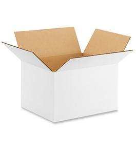"10"" x 8"" x 6"" White Corrugated Boxes (Bundle of 25)"
