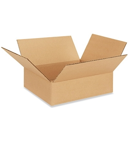 "11"" x 11"" x 3"" Flat Corrugated Boxes (Bundle of 25)"