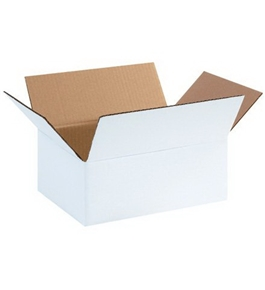"11 3/4"" x 8 3/4"" x 4 3/4"" White Corrugated Boxes (Bundle of 25)"