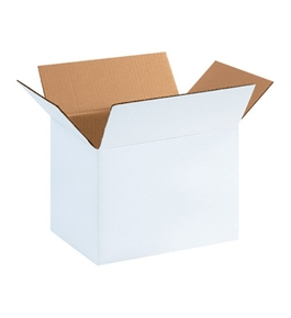 "11 3/4"" x 8 3/4"" x 8 3/4"" White Corrugated Boxes (Bundle of 25)"