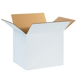 "12"" x 10"" x 10"" White Corrugated Boxes (Bundle of 25)"