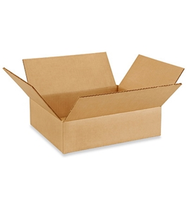 "12"" x 10"" x 3"" Flat Corrugated Boxes (Bundle of 25)"