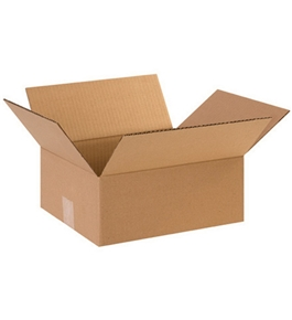 "12"" x 10"" x 5"" Flat Corrugated Boxes (Bundle of 25)"