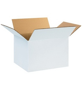 "12"" x 10"" x 8"" White Corrugated Boxes (Bundle of 25)"