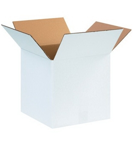 "12"" x 12"" x 12"" White Corrugated Boxes (Bundle of 25)"