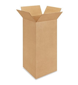 "12"" x 12"" x 24"" Tall Corrugated Boxes (Bundle of 25)"