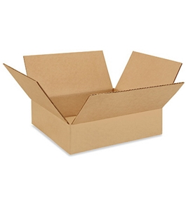 "12"" x 12"" x 3"" Flat Corrugated Boxes (Bundle of 25)"