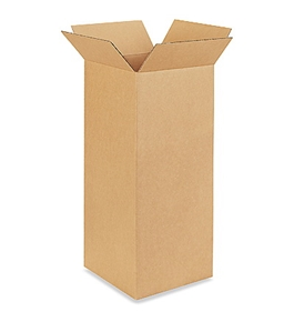 "12"" x 12"" x 30"" Tall Corrugated Boxes (Bundle of 15)"