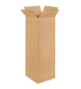 "12"" x 12"" x 36"" Tall Corrugated Boxes (Bundle of 15)"