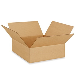 "12"" x 12"" x 4"" Flat Corrugated Boxes (Bundle of 25)"