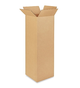 "12"" x 12"" x 40"" Tall Corrugated Boxes (Bundle of 15)"