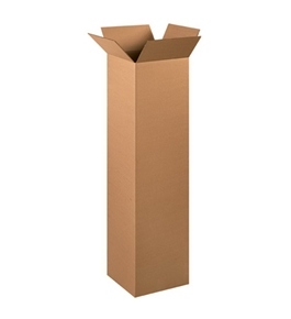 "12"" x 12"" x 48"" Tall Corrugated Boxes (Bundle of 15)"