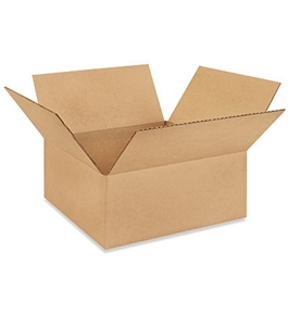 "12"" x 12"" x 5"" Flat Corrugated Boxes (Bundle of 25)"