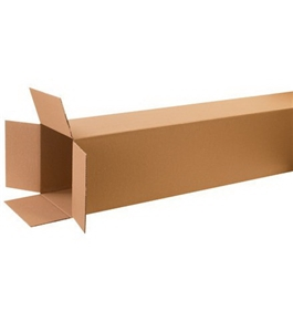 "12"" x 12"" x 60"" Tall Corrugated Boxes (Bundle of 10)"