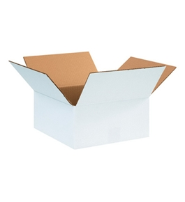 "12"" x 12"" x 6"" White Corrugated Boxes (Bundle of 25)"