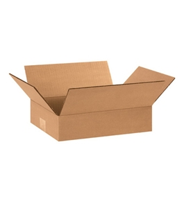 "12"" x 8"" x 3"" Flat Corrugated Boxes (Bundle of 25)"