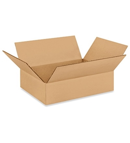 "12"" x 9"" x 3"" Flat Corrugated Boxes (Bundle of 25)"