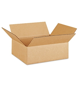 "12"" x 9"" x 4"" Flat Corrugated Boxes (Bundle of 25)"