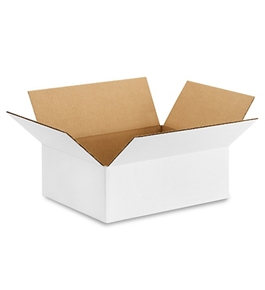 "12"" x 9"" x 4"" White Corrugated Boxes (Bundle of 25)"