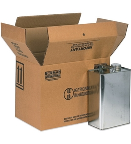 "13 3/4"" x 9"" x 10 3/8"" 4 - 1 Gallon F-Style Boxes (20 Each Per Bundle)"