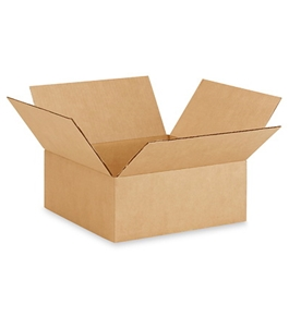 "13"" x 13"" x 5"" Flat Corrugated Boxes (Bundle of 25)"