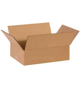 "14"" x 10"" x 4"" Flat Corrugated Boxes (Bundle of 25)"
