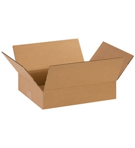 "14"" x 11"" x 3"" Flat Corrugated Boxes (Bundle of 25)"