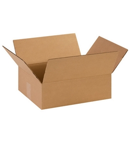 "14"" x 11"" x 4 1/2"" Flat Corrugated Boxes (Bundle of 25)"