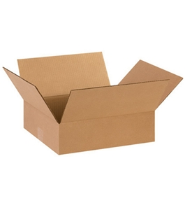 "14"" x 12"" x 4"" Flat Corrugated Boxes (Bundle of 25)"