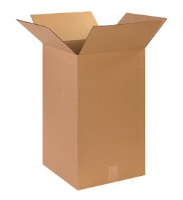"14"" x 14"" x 24"" Tall Corrugated Boxes (Bundle of 15)"