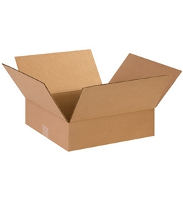 "14"" x 14"" x 3"" Flat Corrugated Boxes (Bundle of 25)"