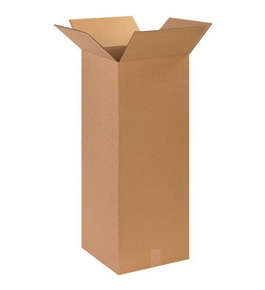 "14"" x 14"" x 36"" Tall Corrugated Boxes (Bundle of 15)"