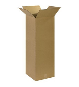 "14"" x 14"" x 40"" Tall Corrugated Boxes (Bundle of 15)"