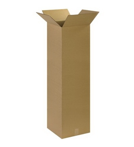 "14"" x 14"" x 48"" Tall Corrugated Boxes (Bundle of 10)"
