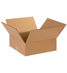 "14"" x 14"" x 5"" Flat Corrugated Boxes (Bundle of 25)"