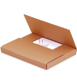 "15"" x 11 1/8"" x 6"" Kraft Easy-Fold Mailers (50 Each Per Bundle)"