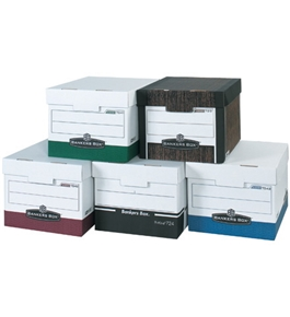 "15"" x 12"" x 10"" Wood Grain R-Kive® File Storage Boxes (12 Each Per Case)"