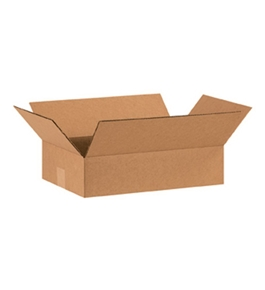 "15"" x 10"" x 4"" Flat Corrugated Boxes (Bundle of 25)"