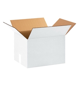 "15"" x 12"" x 10"" White Corrugated Boxes (Bundle of 25)"