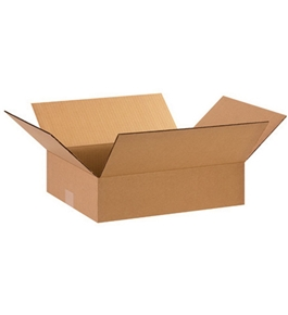 "15"" x 12"" x 4"" Flat Corrugated Boxes (Bundle of 25)"
