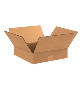 "15"" x 15"" x 3"" Flat Corrugated Boxes (Bundle of 25)"