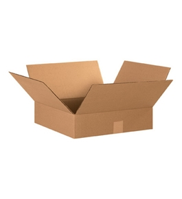 "15"" x 15"" x 4"" Flat Corrugated Boxes (Bundle of 25)"