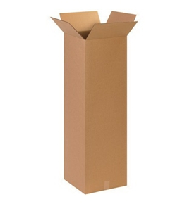 "15"" x 15"" x 48"" Tall Corrugated Boxes (Bundle of 10)"