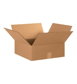 "15"" x 15"" x 6"" Flat Corrugated Boxes (Bundle of 25)"