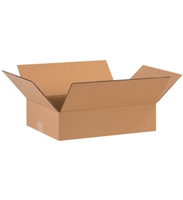 "16"" x 12"" x 4"" Flat Corrugated Boxes (Bundle of 25)"