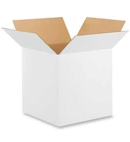 "16"" x 16"" x 16"" White Corrugated Boxes (Bundle of 25)"