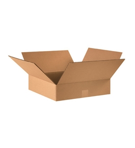 "16"" x 16"" x 4"" Flat Corrugated Boxes (Bundle of 25)"
