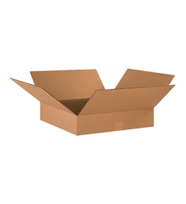 "17"" x 17"" x 4"" Flat Corrugated Boxes (Bundle of 25)"