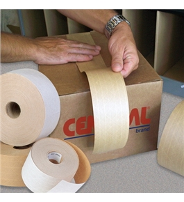 "2 1/2"" x 450' Kraft Central - 250 Reinforced Tape (12 Per Case)"