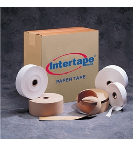 "2 1/2"" x 600' Kraft Intertape - Convoy Medium Paper Tape (12 Per Case)"